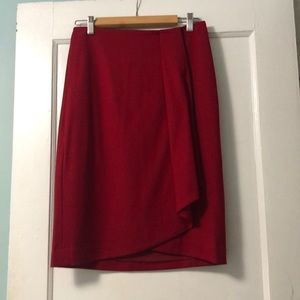 Red Talbots Wool Skirt